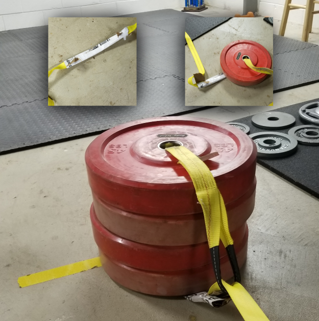 A more resilient sled using a 20' tow strap